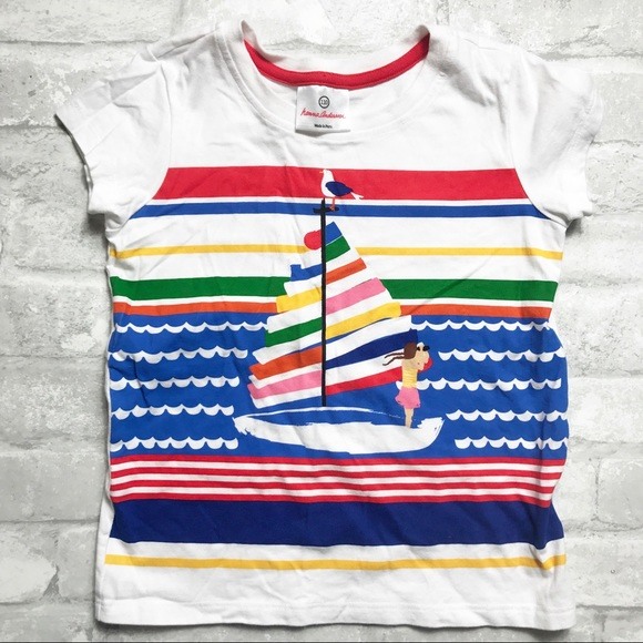 48f72bd85 Hanna Andersson | Sailboat Beach T-Shirt 110 US 5